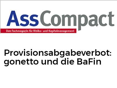 Provisionsabgabeverbot: gonetto und die BaFin