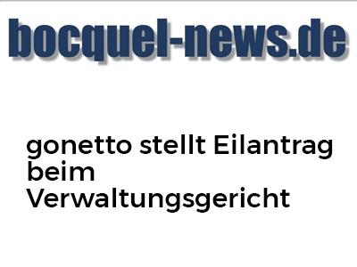 gonetto stellt Eilantrag beim Verwaltungsgericht