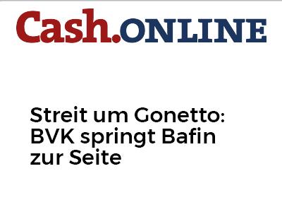 Streit um Gonetto: BVK springt Bafin zur Seite
