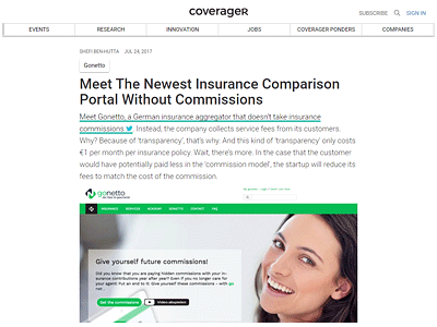 Meet The Newest Insurance Comparison Portal Without Commissions