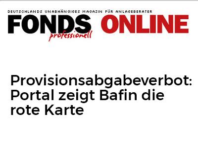 Provisionsabgabeverbot: Portal zeigt Bafin die rote Karte