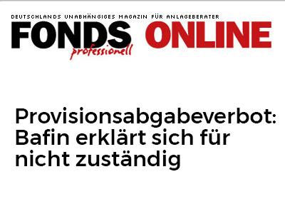 Provisionsabgabeverbot: Bafin erklärt sich für nicht zuständig