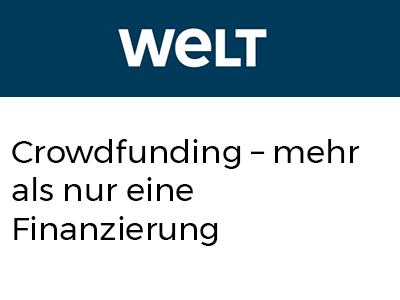 Crowdfunding – mehr als nur eine Finanzierung