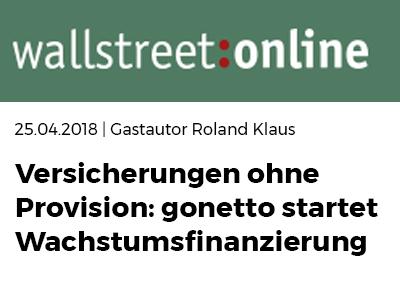 wallstreet online über gonetto - Versicherungen: So sparen Sie die Provision mit einer Netto-Police bei gonetto