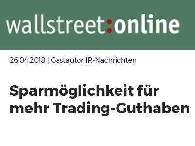 wallstreet online über gonetto - Sparmöglichkeit für mehr Trading-Guthaben: interessanter Trick um Provisionen bei Versicherungen zu sparen und jedes Jahr mehr Anlagekapital zur Verfügung zu haben!